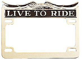 Lic. Plate Frame Live-To-Ride Chr