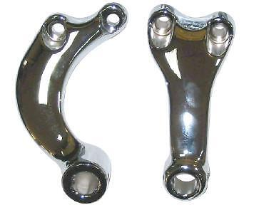 Zodiac 057098 Front Footpeg Bracket Kit Chr Sportster 04-Up Fits Harley Davidson