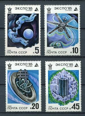 30450) RUSSIA 1985 MNH** EXPO '85 Space 4v. Scott#5341/44-