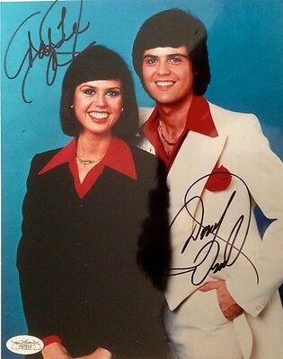 RARE - Donny And Marie Osmond Dual Signed 8x10 Photo JSA #F87874