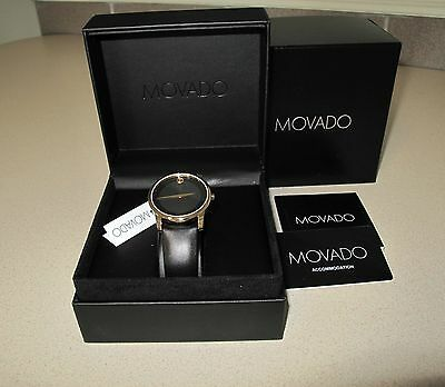 Movado watch Classic Leather Band Men's New in Box and warranty