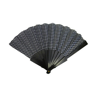 Folding Fan Hand Fan Great Houndstooth pattern