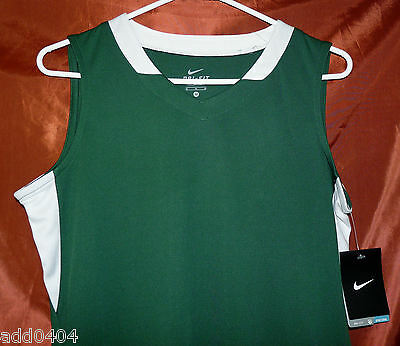 Nike Women's Condition Basketball Game Jersey Green w/ White Trim Size L - NWT