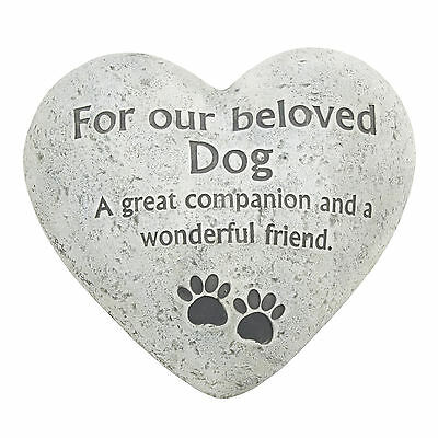 Pet Memorial For Beloved Dog Heart Shaped Grave Ornament Funeral Tribute