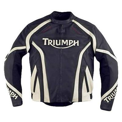 Mens Triumph Hawk #2 Leather Motorcycle Jacket