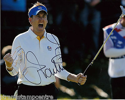 "Ian Poulter Colour 10""x 8"" Signed Ryder Cup Golfing Photo - UACC RD223"