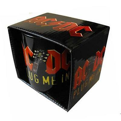 AC/DC - Plug Me In Coffee / Tea Mug - New & Official In Picture Box