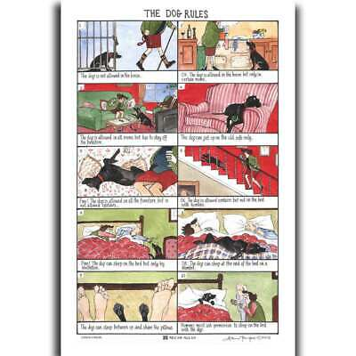 McCaw Allan Tottering By Gently Dog Rules Linen Union Tea Towel
