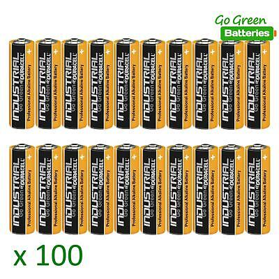 100 x Duracell AA Industrial Alkaline Batteries 1.5V LR6 MN1500 Procell 2023 exp