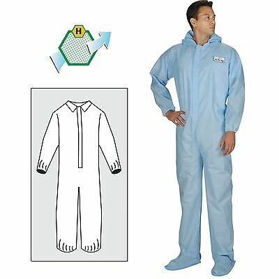 NS ActivGARD 100 Collar Elastic Wrists & Ankles Blue Disposable Coveralls Each