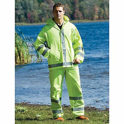NS Ultrabrite Workwear 3-Piece Lime Green Reflective Hi-Vis Rain Suit Only