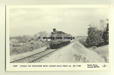 pp0270 - Isle of Wight Steam Train no 35 to Ventnor West 1951 - Pamlin postcard