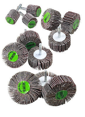 Flap Wheel Disc Sanding Abrasive for Drill 6mm Shank 40 or 80 Grit 25mm - 80mm