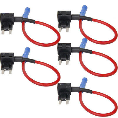 5 Add-A-Circuit Fuse TAP Adapter Mini(ATM, APM) Blade Fuse Holder Auto Car Sales
