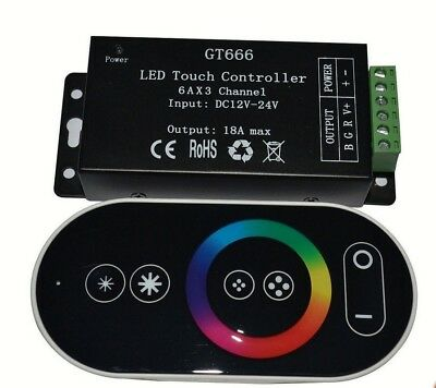 12-24V 18A RF led touch remote controller for RGB led strip 433 controler GT666