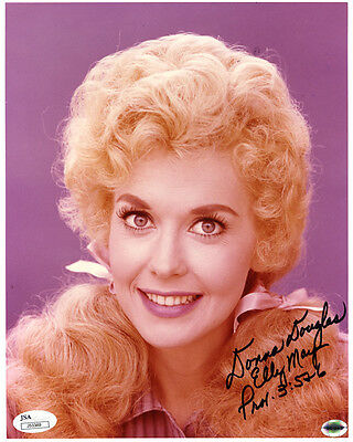(SSG) DONNA DOUGLAS Signed 8X10 Color Photo as Elly May - JSA (James Spence) COA