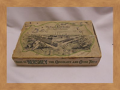 antique 5 Cent Candy bar box The House Of Hershey's Chocolate Box Hershey PA.