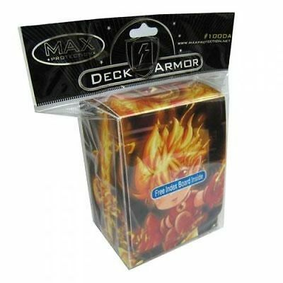 Yugioh Max Protection Fire Boy Deck Box w Divider (Holds 75 Cards)