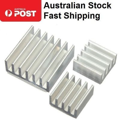New 3pcs Heat sink Kit for Raspberry Pi 3 Model B & Pi 2 Covers all models