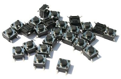 (10 PCS) Momentary Tactile Push Button Switch SMT 6X6MM X 5mm. USA SELLER!!!