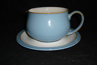 Denby - Colonial Blue - Gravy Jug Sauce Boat and Tray (several available)