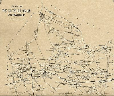 Monroe Jamesburg Rossmoor Helmetta  NJ 1876  Maps with Homeowners Names Shown