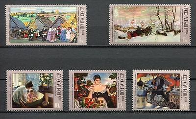 30166A) RUSSIA 1978 MNH** Kustodiev Paintings 5v.