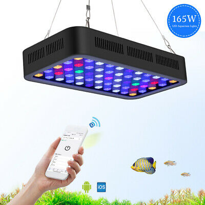 PopularGrow Wifi timer Dimmable 165W LED Aquarium Light Fish Tank Reef Coral LPS