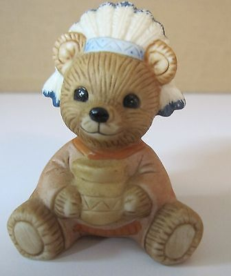 Homco Teddy Bear -Thanksgiving Indian Figurine #5312 (Others- see below)