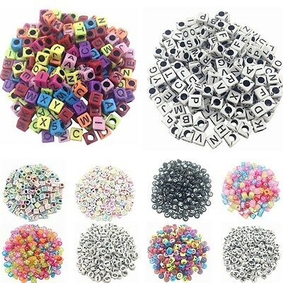 100pcs 6mm Wholesale Acrylic Mixed Square Cube Round Pick Spacer Loose Beads