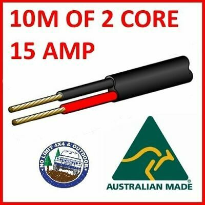 10M Of 2 Core 3Mm Wire Cable Battery Trailer Truck 12V 24V 30M Twin Metres