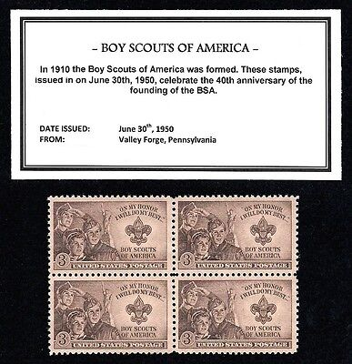 65-year-old Boy Scouts of America United States postage stamps block S001