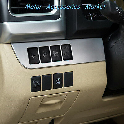 New Chrome Light Switch Console Dashboard Trim For Toyota Highlander 2014-2018