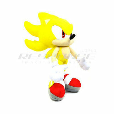 "Sonic the Hedgehog Super Sonic 12"" Plush Doll Figure Toy Yellow SEGA Official"