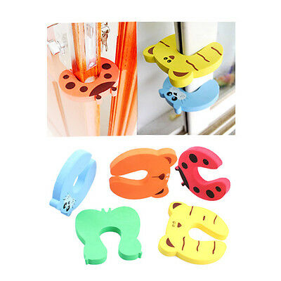 4pcs Cute Baby Safety Stop Door Finger Pinch Guard Lock Jammer Stopper Protector