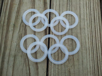 """Lot Of 10 Silicone Tri Clamp Sanitary Gaskets 1½""""  Triclamp Tri-Clover * 1 - 1/2"""