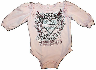 Designer JUICY COUTURE Size 3 months ANGEL HEART Long Sleeved Bodysuit