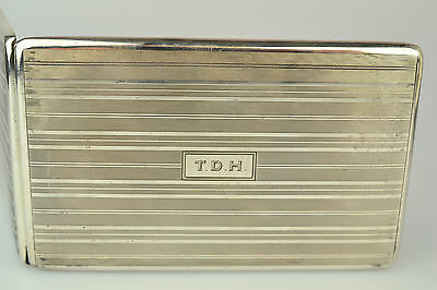 Antique R. Blackinton & Co Sterling Silver Cigarette Card Case With Tdh Monogram