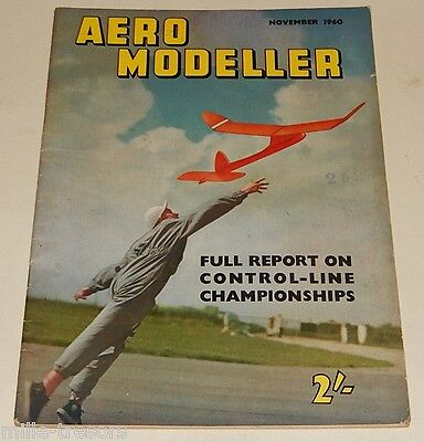 AERO MODELLER November 1960 Plans : SKUA + CURTISS JN-4D + SNOWFLAKE + FAI Racer