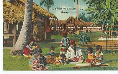 A SIMINOLE FAMILY GROUP of FLORIDA 1930s FL.