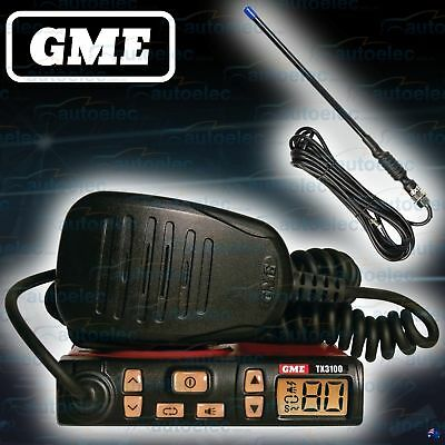 Gme Tx3100 + F477K Rubber Ducky Antenna Pack Uhf Cb Radio New 80Ch 80 Channel
