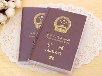 Clear Scrub Passport Cover Holder ID Card Travel Protector Organizer Case HS8