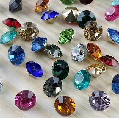 30-1000pcs8mm mixed Point back Rhinestone Crystal Glass Chatons Strass SS38