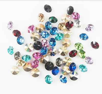 Pick 200/1000pcs 4mm mixed Point back Rhinestone Crystal Glass Chatons Strass