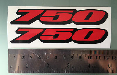 "GSXR ""750"" Fairing Decals / Stickers (NEW DESIGN) (Any Colour)"