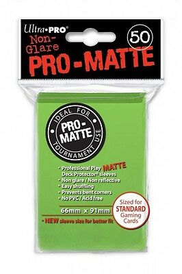 Ultra Pro Pro-matte Deck Protector Lime Green 50ct  - BRAND NEW