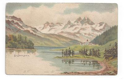 SWITZERLAND antique post card Beautiful View of Silvaplana