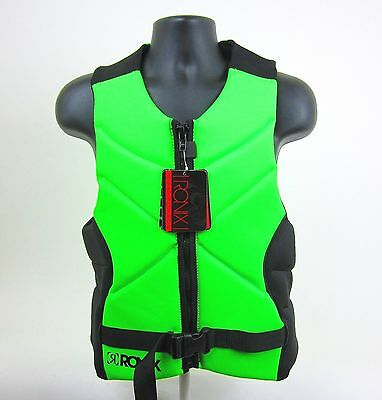 Ronix One - Front Zip Wakeboard Mens Comp Life Vest- Green/blk- Size: L- New!!!