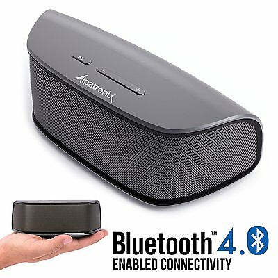 Alpatronix AX420 Bluetooth Speaker 10W Stereo w/ Mic Volume/Playback Controls
