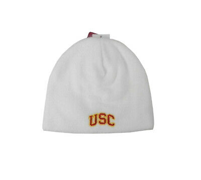 5f6bba645a4 ... official trojans girls usc beanie hat fowler knit cap baby toddler size  0 12 white poly